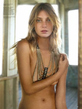 Photography by Alex Cayley of Daria Werbowy