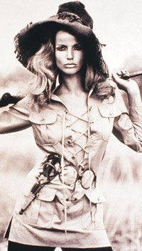 veruschka in safari outfit