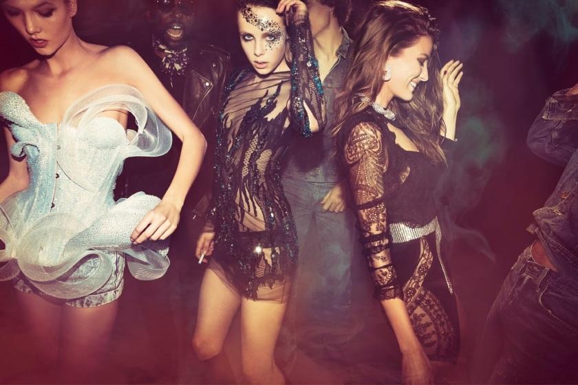 Anna, Edie, Cameron, Karlie, Liya, Rianne And Mica By Inez And Vinoodh For Vogue Paris May 2015ga