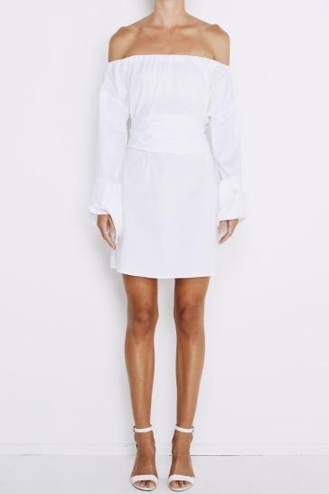 lavanzo-tie-dress-white-front