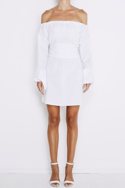 lavanzo-tie-dress-white-front
